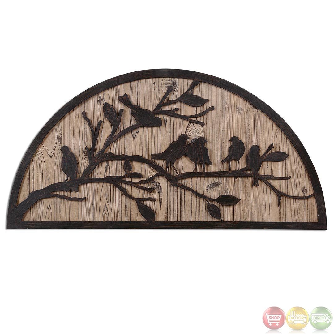 perching birds traditional rustic bronze metal wall art 07653. Black Bedroom Furniture Sets. Home Design Ideas