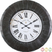 Peronell Rustic Black Face Wall Clock  06078