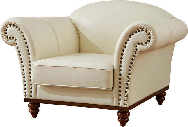 Remarkable Pesaro Transitional Ivory Leather Match Camelback Chair With Pabps2019 Chair Design Images Pabps2019Com