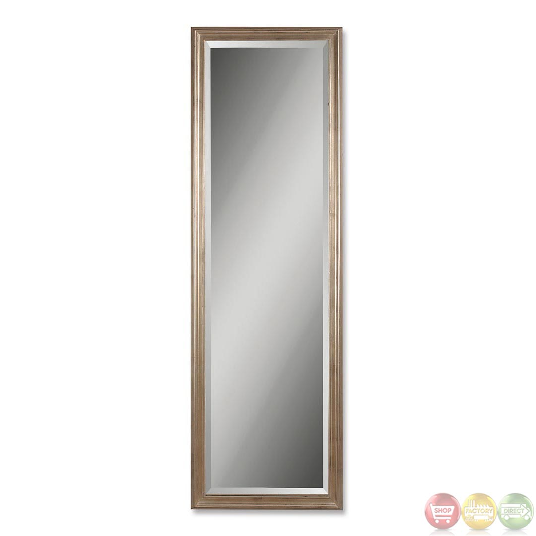 Petite hekman modern large silver wall mirror 14053 b for Big silver mirror