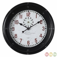 Philly Antique Rustic Black Wall Clock 06095