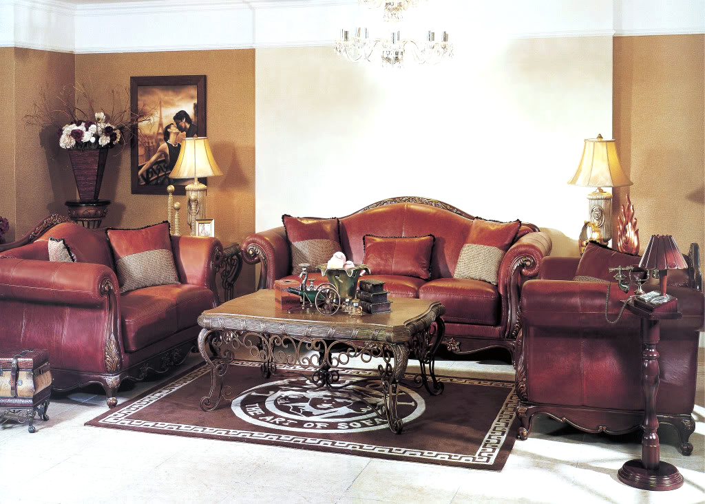 top grain leather living room set modern house