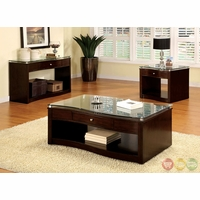 Pierce Contemporary Brown Cherry Accent Tables CM4780