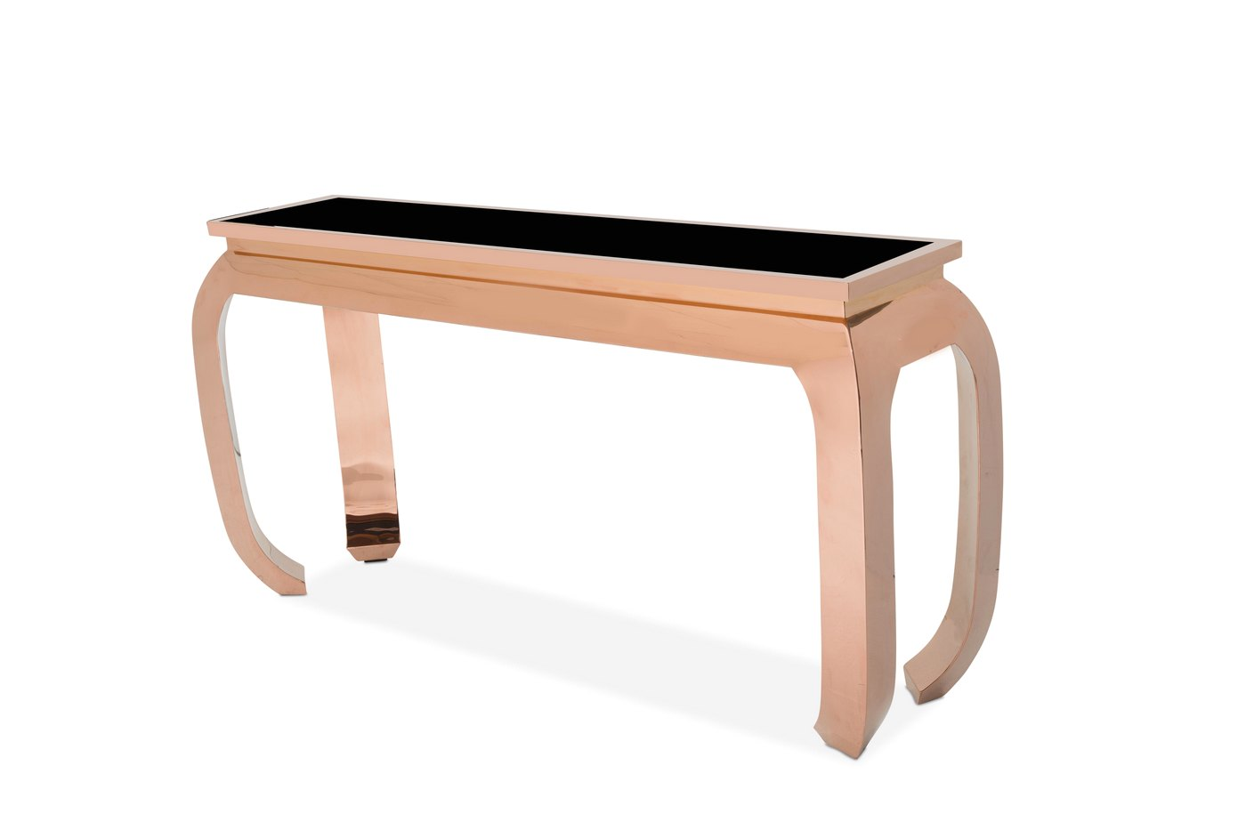 Pietro ultra modern sofa table with glass top and rose for Sofa table glass