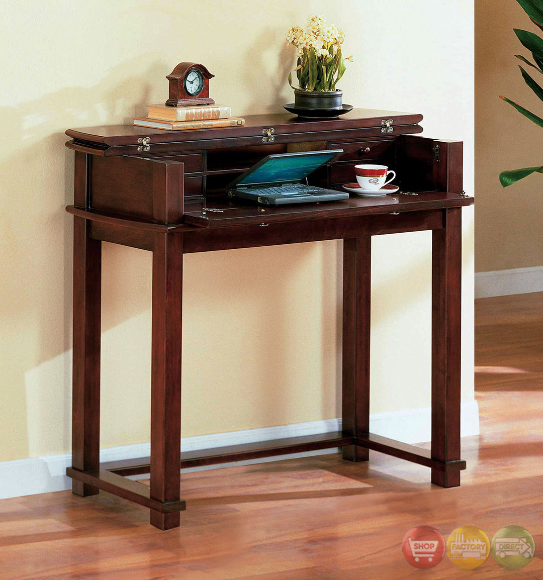 Pine Hurst Cherry Accent Tables With 3 Drawer Coffee Table
