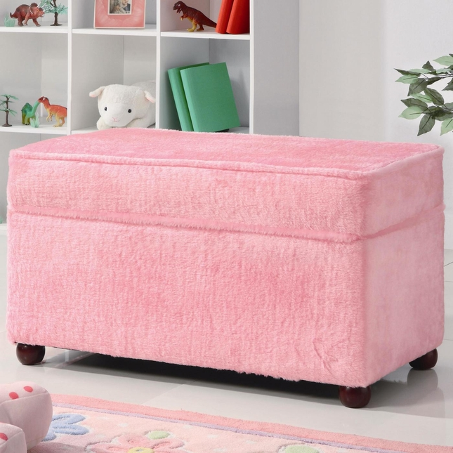 Pink Storage Bench | Pink Toy Chest | Shop Factory Direct