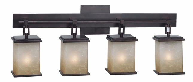 Plateau Metal Frame Oil Rubbed Bronze 4 Light Vanity