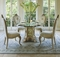 """Platine De Royal 5-pc French 54"""" Round Dining Table Set In Champagne"""