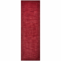 """Rizzy Home Platoon New Zealand Wool Rectangle Runner Area Rug 2'6""""x 8' Red/Solid"""