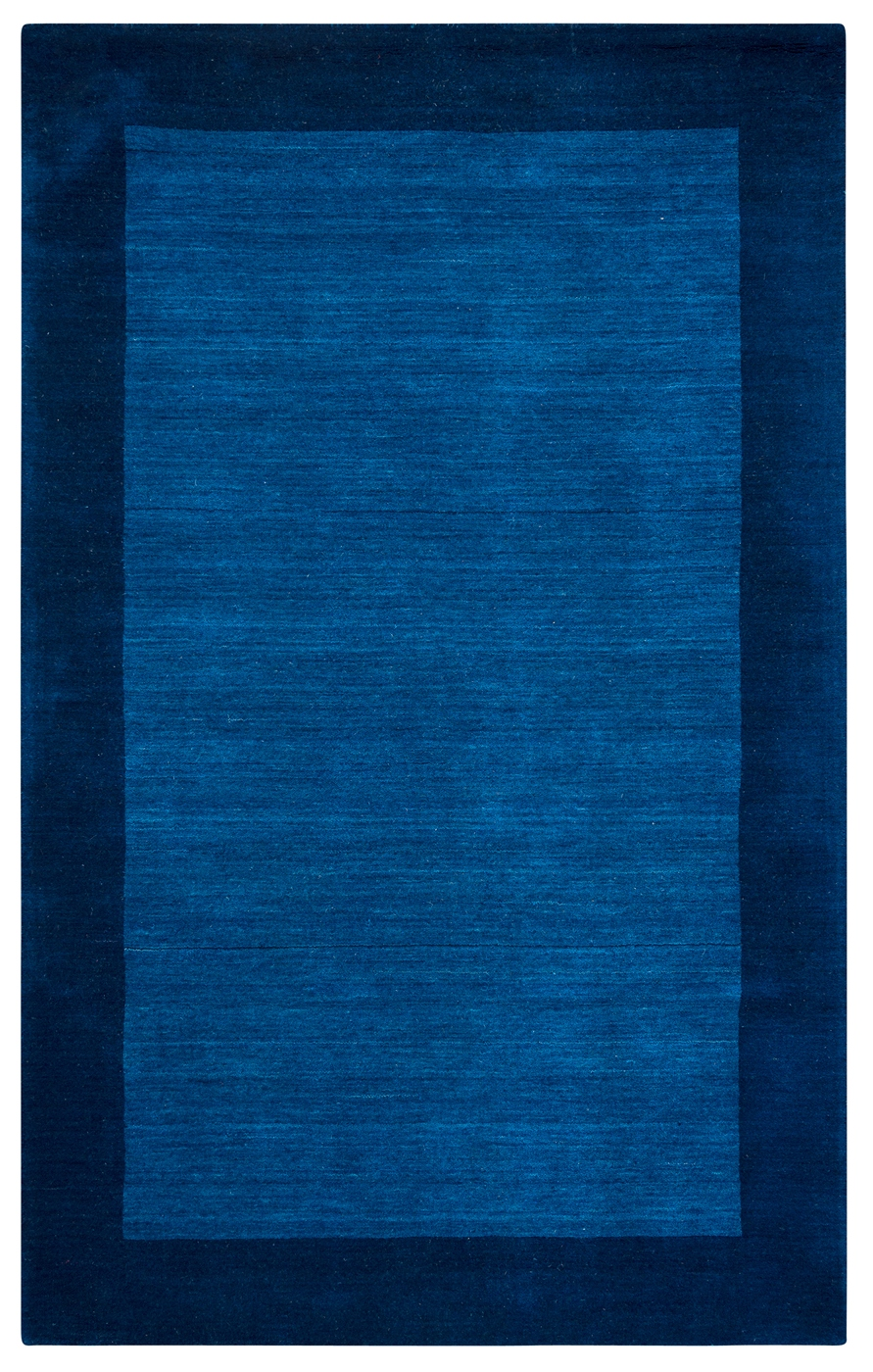 Platoon Faded Border Wool Area Rug In Blue Amp Navy 3 X 5
