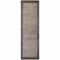 """Platoon New Zealand Wool Rectangle Runner Area Rug 2'6""""x 8'Tan Brown Taupe/Solid"""