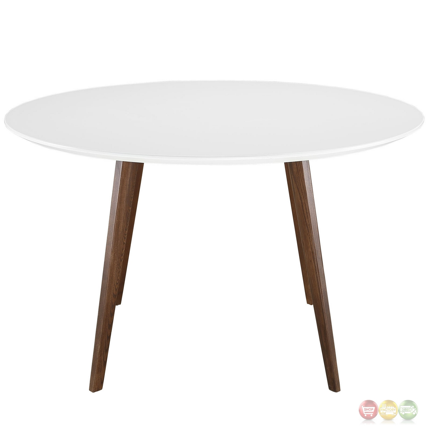 gorgeous round white wooden dining table ideas