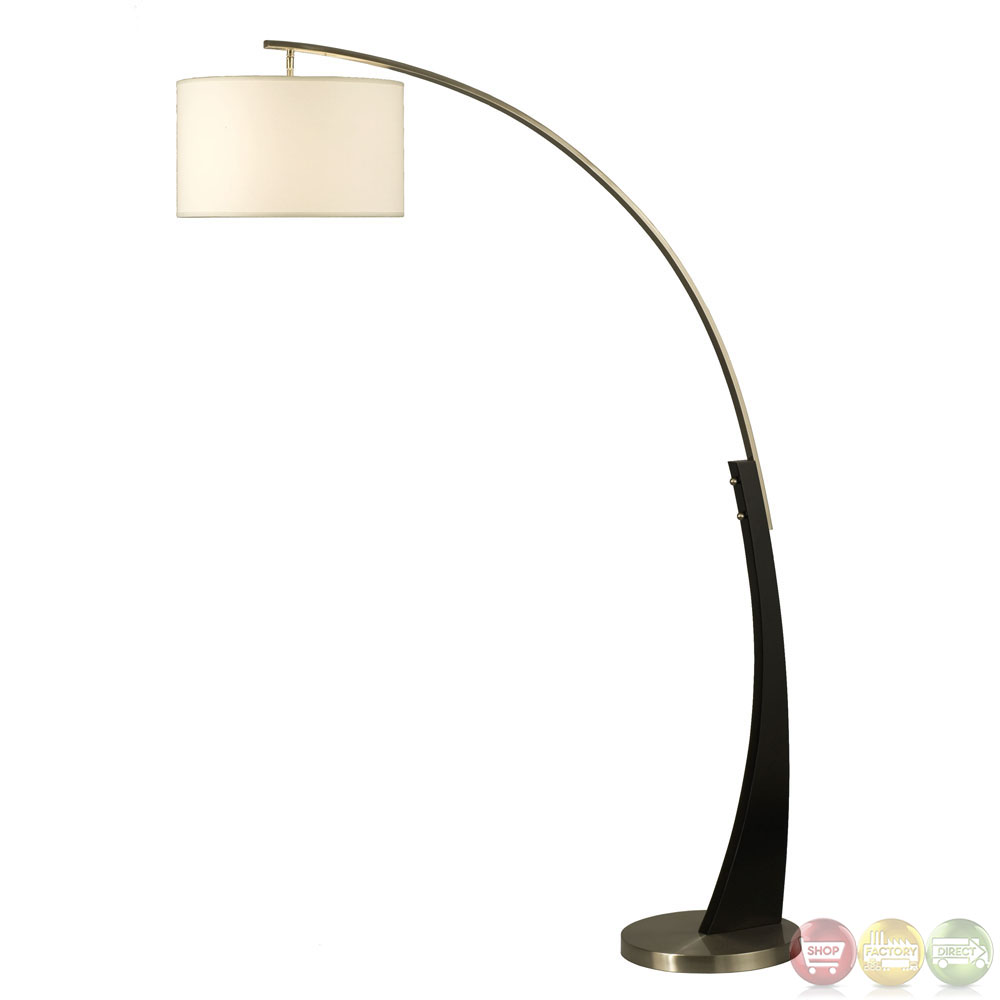 Plimpton Brushed Nickel Modern Arc Floor Lamp 2110003