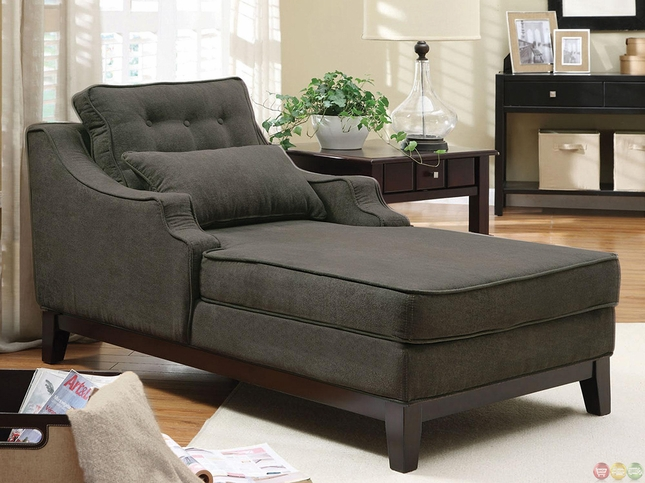 Plush and Comfortable Fabric Upholstery Chaise Lounge Chair