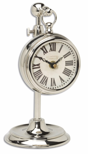 Pocket Watch Traditional Nickel Marchant Cream 06070