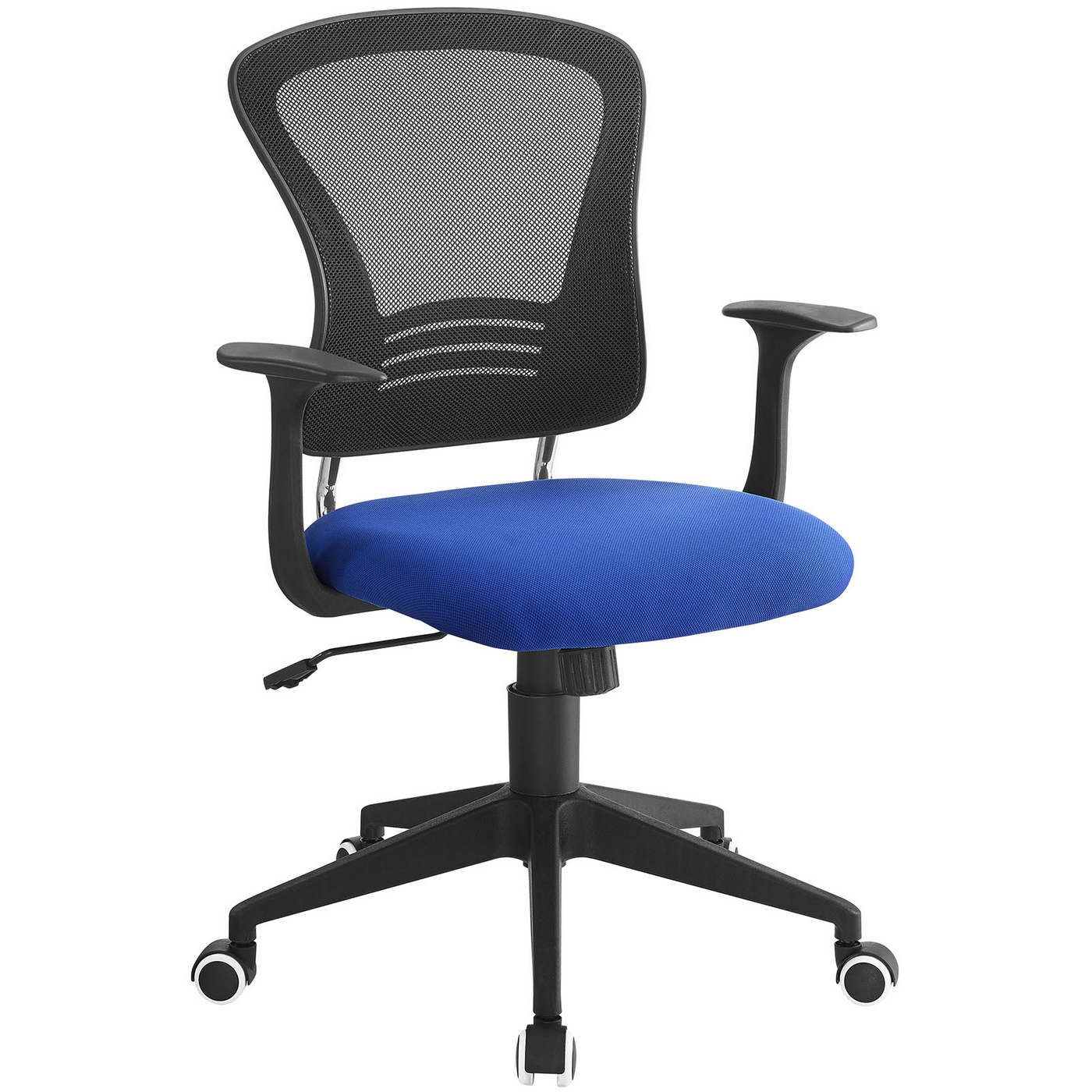 poise modern ergonomic mesh back office chair with lumbar support blue. Black Bedroom Furniture Sets. Home Design Ideas