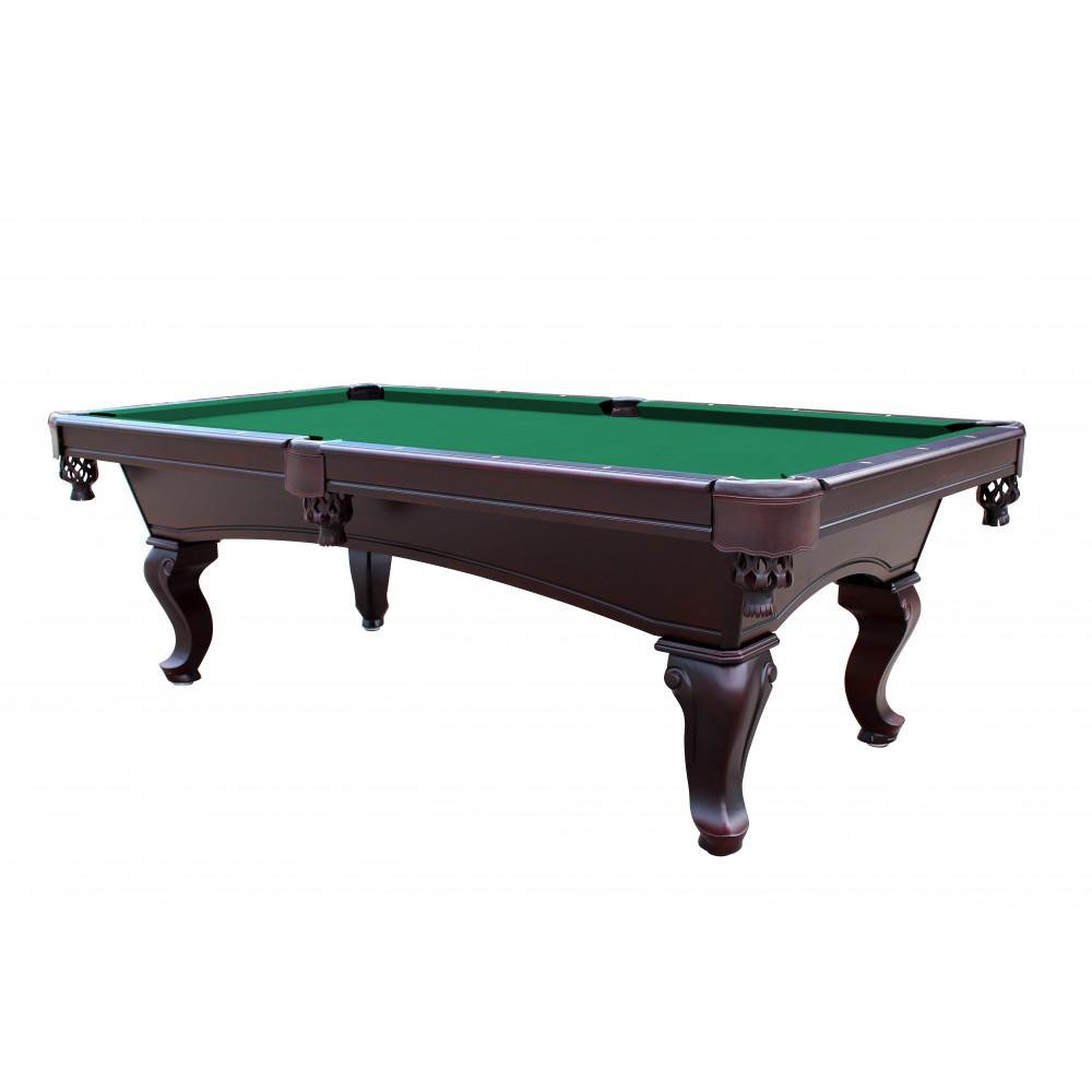 Green 8 foot queen anne style 3 piece slate pool table for 10 feet pool table