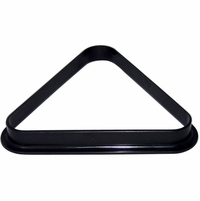 Carmelli Regulation Size Pool Table Billiard Ball Triangle Rack in Black Finish