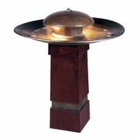 "Portland Sound 30""H Outdoor Garden Floor Water Fountain Copper 50720COP"