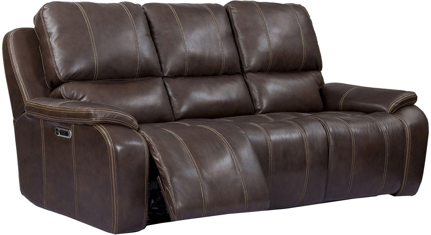 Outstanding Details About Potter Genuine Leather Power Dual Reclining Sofa Usb Charging Port Walnut Brown Dailytribune Chair Design For Home Dailytribuneorg