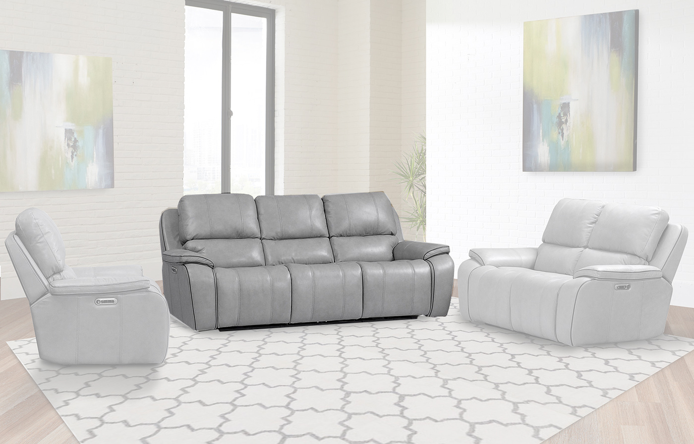 casual parker living attachment ports recliner usb with sofa dual contemporary power mason set of reclining
