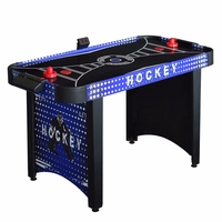 Carmelli Predator 4-Ft Air Hockey Table w/Electronic & Manual Scoring in Blue & Black