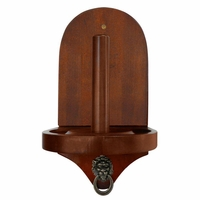 Carmelli Premier Wall Mounted Cone Chalk Holder in Walnut Finish