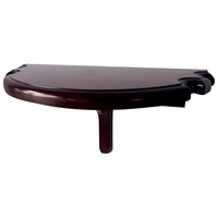 Carmelli Premium Half Moon Billiards Wall Shelf with Cue Holder in Mahogany Finish