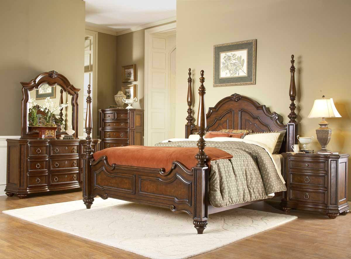 Prenzo Traditional Design Poster Bedroom Furniture Set Free Shipping