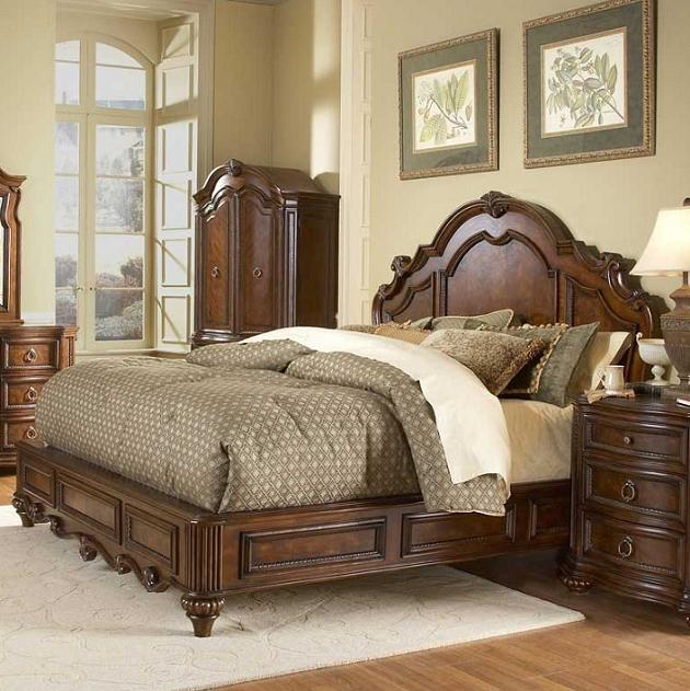 Prenzo Traditional Low Profile Panel Bed Queen King 1390lp