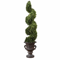 Preserved Boxwood Trees-Greenery Spiral Topiary 60094