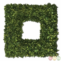 Preserved Boxwood Trees-Greenery Square Wreath 60109