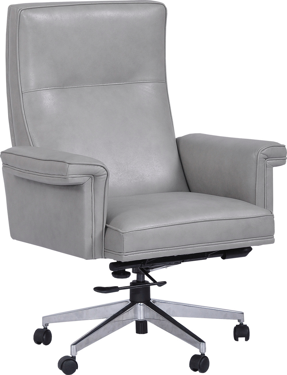 Prestige Top Grain Genuine Leather Office Desk Chair with ...