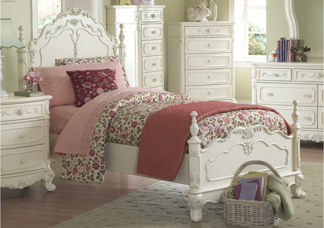 Victorian Youth Bed : Princess white twin victorian style bed b t home elegance