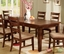 Priscilla I Antique Oak Formal Dining Set with Ladder Back Chairs