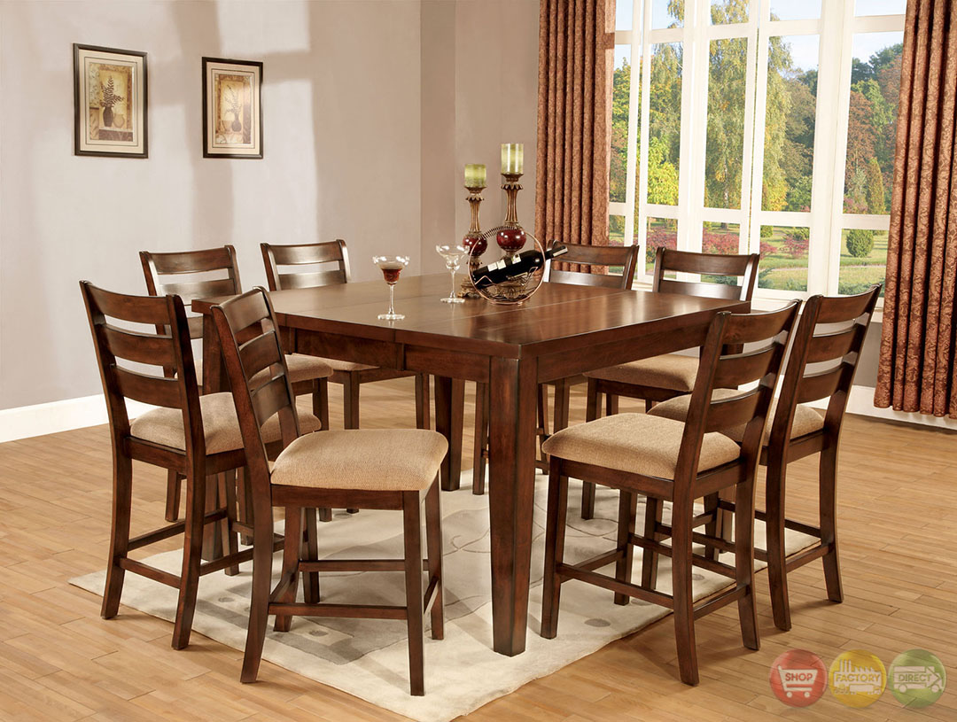 priscilla ii antique and oak counter height dining set
