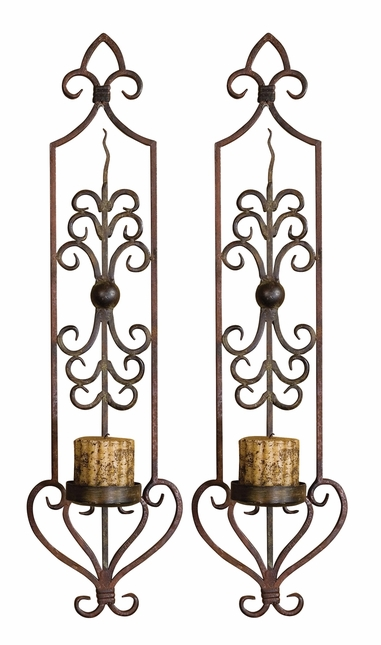 Privas Traditional Set of 2 Wall Sconces 20987