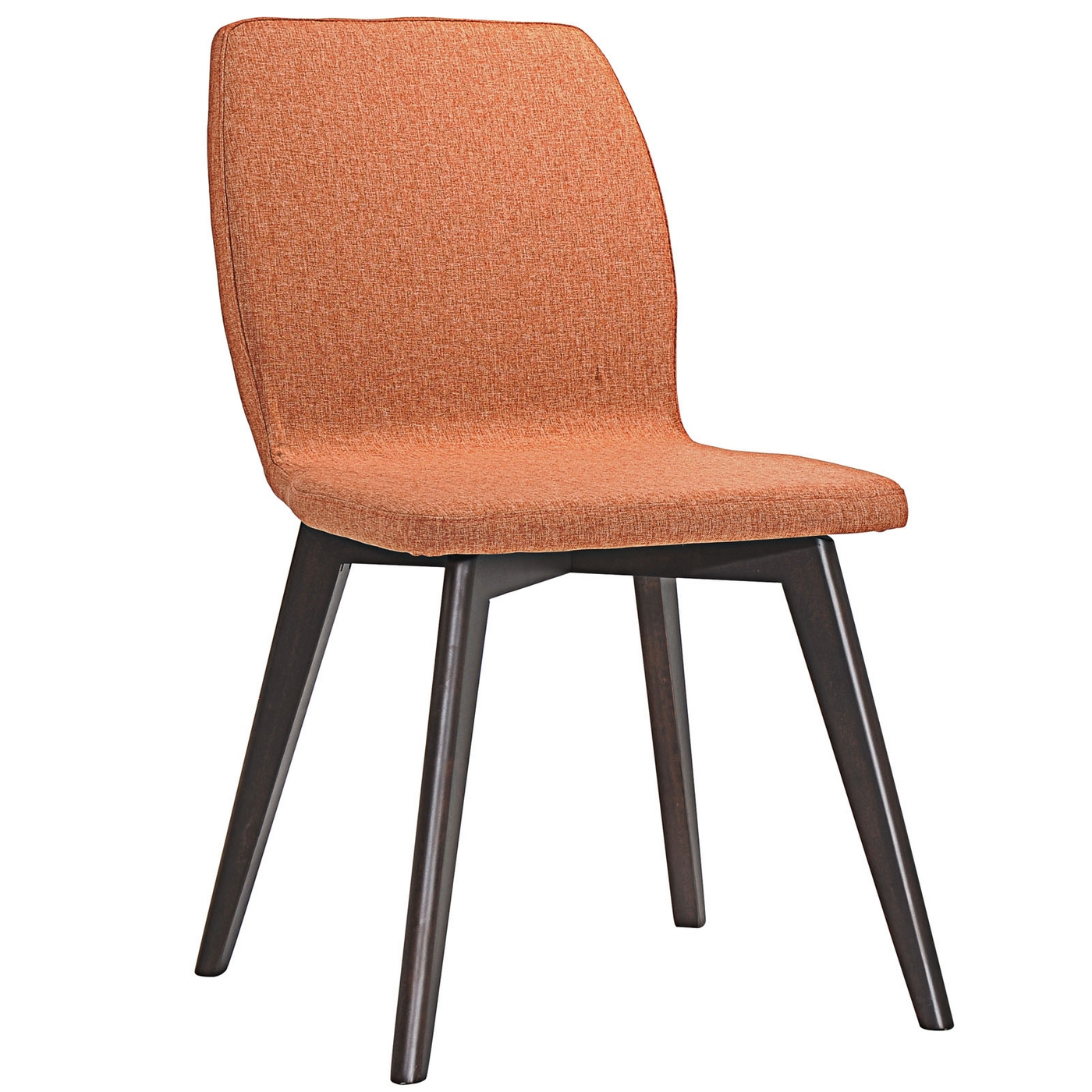 Proclaim modern upholstered wooden dining side chair for Upholstered dining chairs contemporary