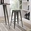 Promenade Vintage Steel Bar Stool With Distressed Finish, Brown