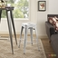 Promenade Vintage Steel Counter Height Stool w/ Distressed Finish, White