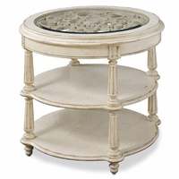 Provenance Country Edge Molding Round Lamp Table