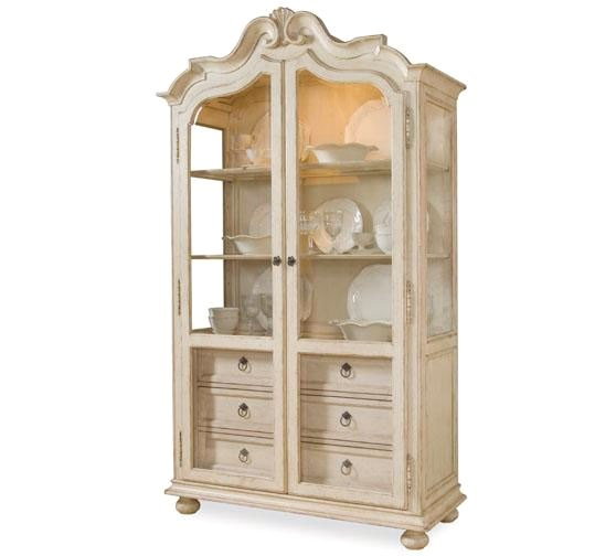 Provenance French Country Distressed, French Country China Cabinet