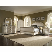 Provenance Whitewash French Style Sleigh Bedroom Collection 176000