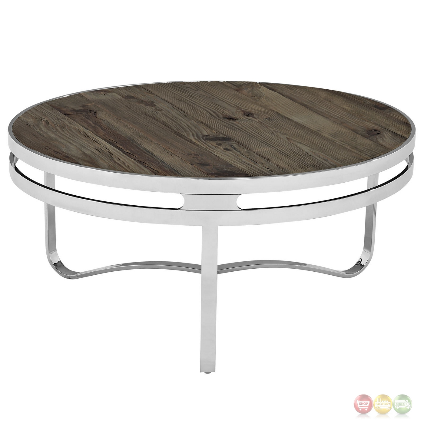 Modern Round Wooden Coffee Table 110: Modern Round Coffee Table