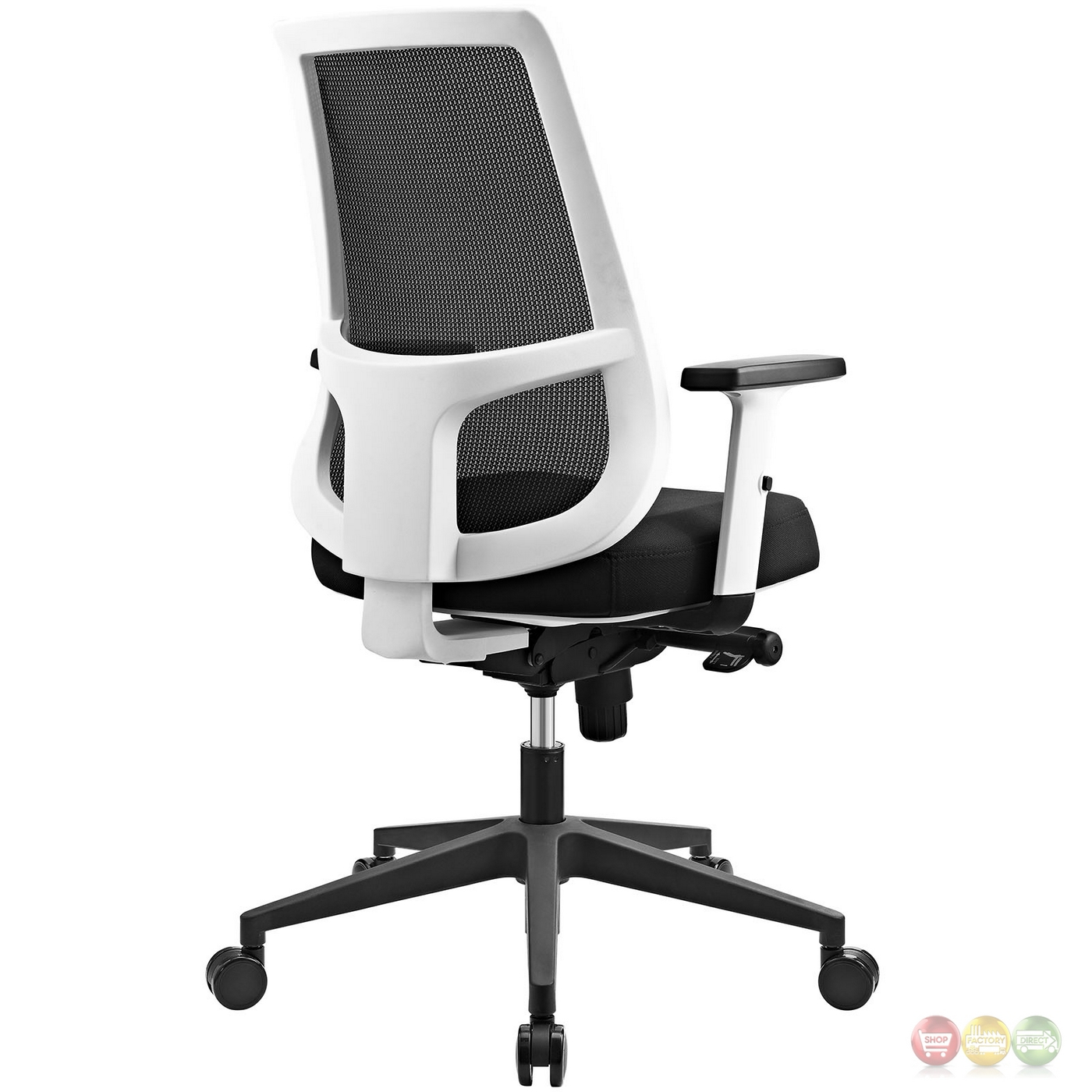 Pump Ergonomic Mesh Back Office Chair W White Frame