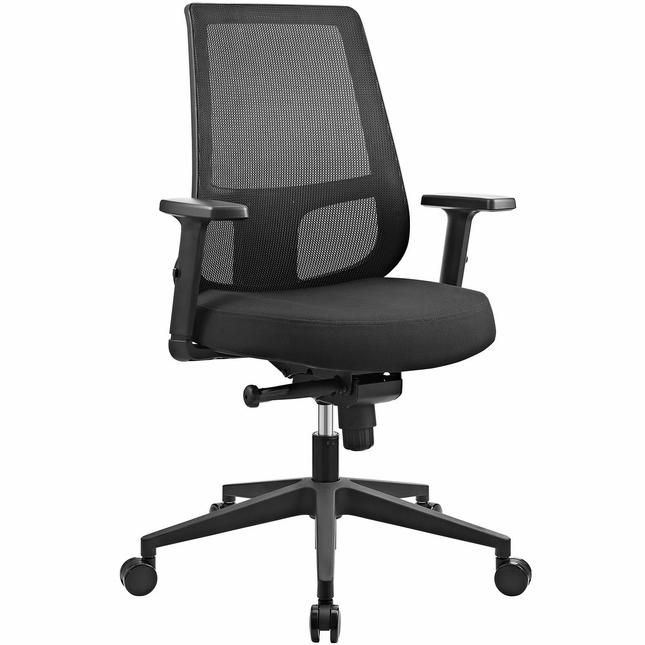 pump ergonomic mesh back office chair with lumbar support black