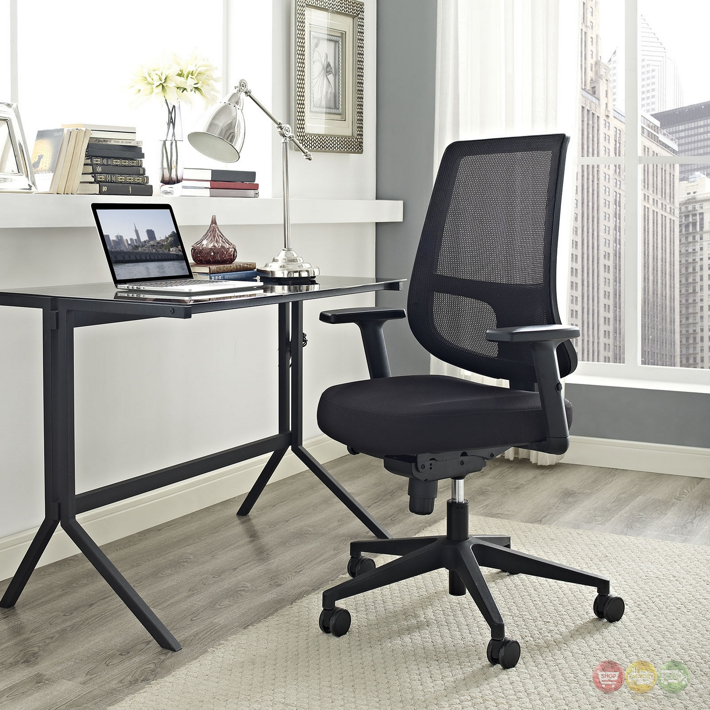 modern ergonomic mesh back office chair w lumbar support