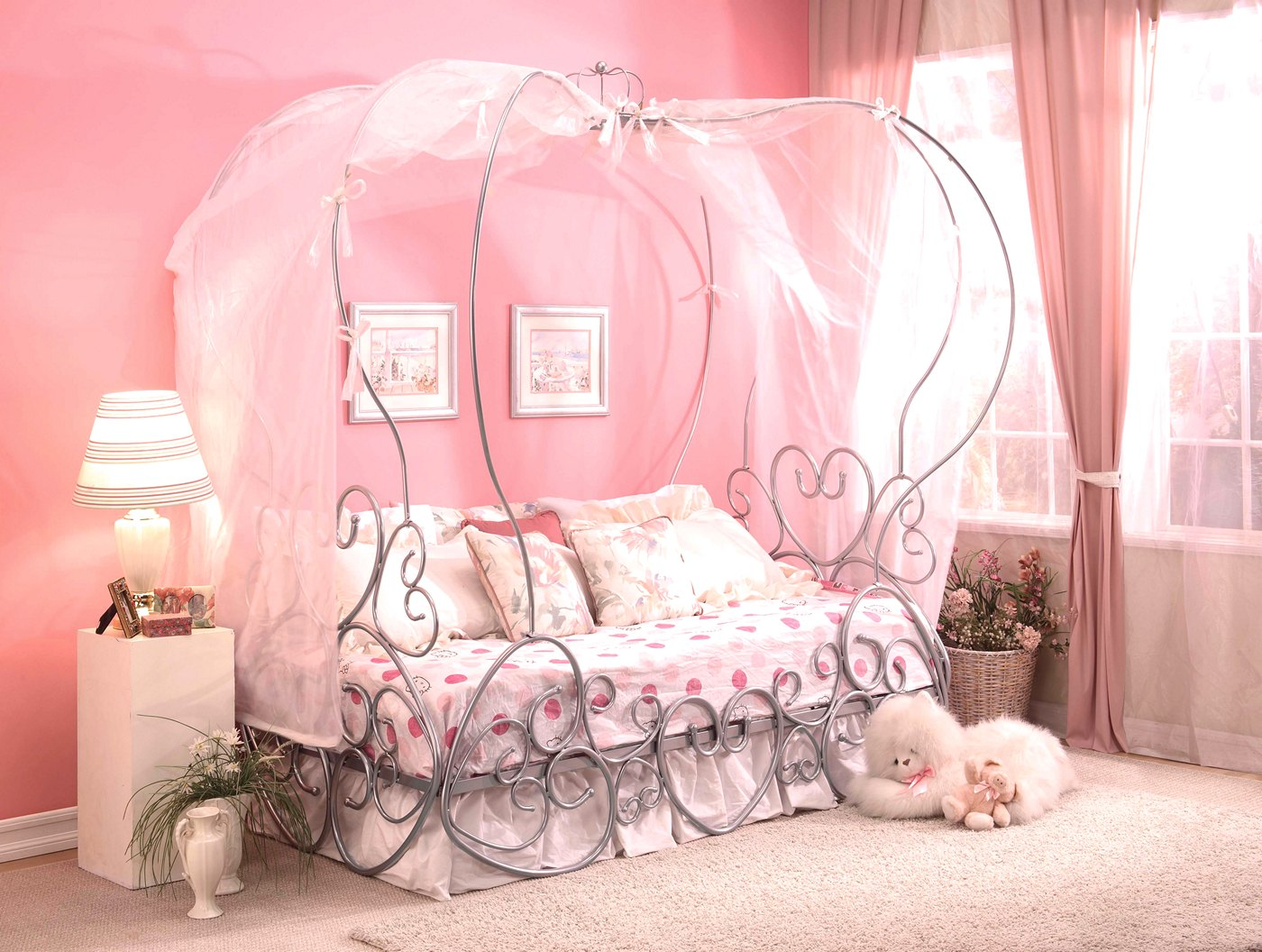 Pumpkin Princess of Hearts Full Canopy Carriage Bed in ...
