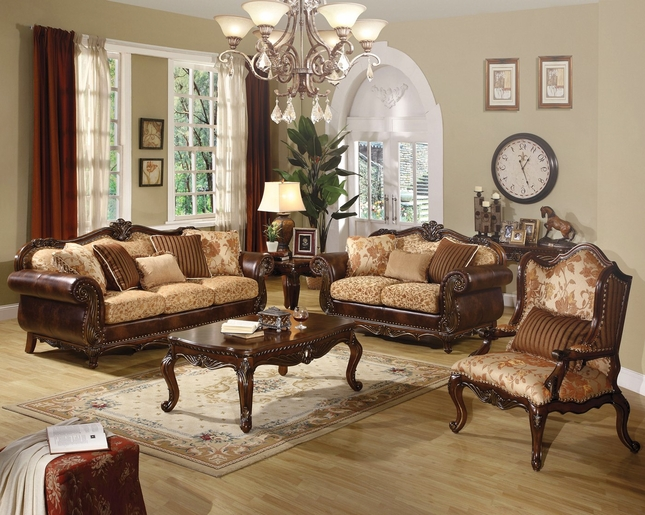 Fine Radbourne Traditional Brown Floral Sofa Loveseat In Gmtry Best Dining Table And Chair Ideas Images Gmtryco