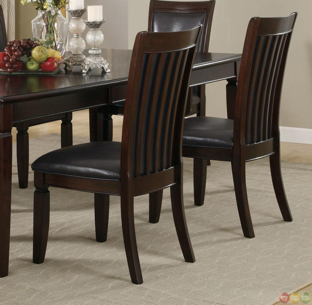 Casual Contemporary Dark Wood Dining Table Chairs Dining: Ramona 7 Piece Walnut Finish Casual Dining Room Set